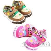 Children shoes male female child canvas shoes casual shoes single shoes multicolour stripe patchwork children shoes