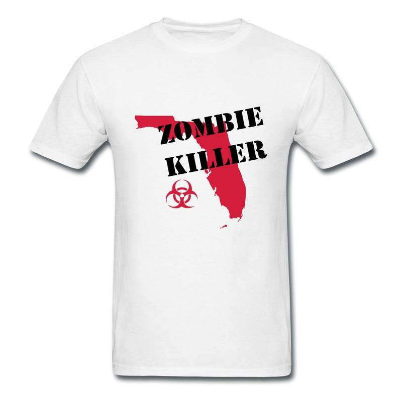 Design Gildan Shirt Boy Florida Zombie Killer Cute Quote T Shirts for Mans Only 1 Piece(China (Mainland))