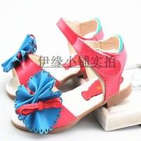 2013 female child sandals princess shoes child sandals bow girl shoes dance shoes