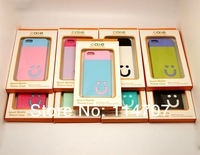 20pc New arrival 2 in 1 DIY color mixed  smile Shockproof Dirtproof case for iphone 5 5s with retailed package ,Free shipping