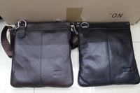 2014New Arrived free shipping genuine leather  men bag fashion men messenger bag bussiness bag A53