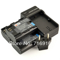 3x LP-E6 7.4V 2600MAH Battery +DC88 Charger for Canon EOS 5D 6D 60D EOS 7D Show Battery Level