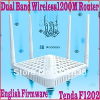 Eng-Firmware 802.11AC Tenda F1202 Dual Band 2.4G&5G 1200Mbps Wireless WiFi Router 4 omni-directional antennas,WDS Bridge, PROM-
