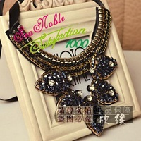 New 2014 Gold Leaf Collar Chokers Necklaces For Women S305