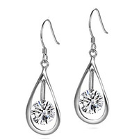 New Arrival,Dangling Genuine 925 Silver Jewelry,Top Quality Austria Crystal,Wholesale Jewelry Supplier OE52