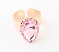 Fashion simple droplets gemstone ring2014 New Designer Jewelry For Women