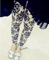 FREE SHIPPING The new spring and summer of 2014 Blue and white porcelain printing leggings Fashion women's clothing