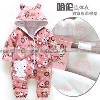 2013 endomorph children's classic fashion clothing fashion winter baby female child romper large pp cotton overalls