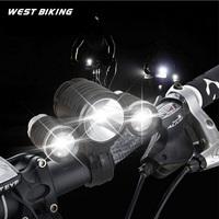 Bicycle Light 3000 LM  Lamp 10W High Power CREE 3 Head XML T6 LED Led Bike Light Head Lamp Bike Cycling Bicycle light
