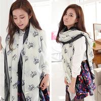 2014 new spring winter Crown scarves Voile Scarf scarves wholesale factory mixed wholesale Korea fashion women desigual