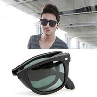 Folding vintage sunglasses  4105 male women's glasses   polarized sunglasses frame sunglasses
