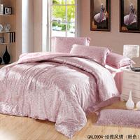 Wholesale of Silk black bedding set soft duvet cover flat sheet pillowcase /bedclothes/bed linen/quilt cover suite(123-4)