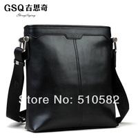 Gsq  men business boutique  elegant fashion casual leather  shoulder bag  1001-5-6, 2sizes for your choice