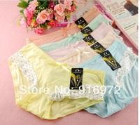 Hot sale Girl's  Lovely  Bamboo  fiber panties  girl's briefs  9.89$/5pcs Free shipping