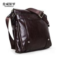 2013 man bag commercial genuine leather one shoulder handbag 1166 - 2