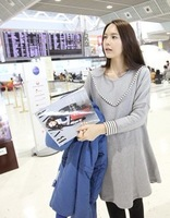 2013 spring maternity clothing cotton grace top for pregnant women pregnancy clothing