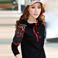 2014 spring and autumn casual set female sports sweatshirt set plus size casual women's