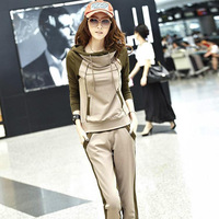 Adorer 2013 sweatshirt sportswear casual set autumn set female with a hood plus size set