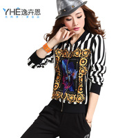2014 spring slim sports set female fashionable casual set women's