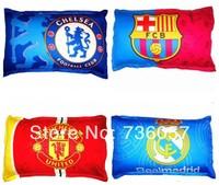 New arrival!Free shipping football fan pillow&cushion case/cover with big european clubs' team logo,football fan souenirs
