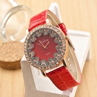 Free Shipping New Design Stylish Rhinestone Leather Belt Watch Unisex Brand Wristwatches For Fashion