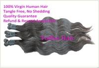 "16"" 18"" 20"" Unprocessed Brazilian Virgin Hair Weft Body Wave Toffee Hair 330g 1B Natural Black Off Black"