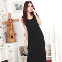 BIG size clothing fashion summer  ultra long sleeveless vest one-piece dress maxi dress