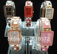 5pcs/lot Popular new watches Fashion Design square face Bracelet wristWatches Time Quartz L20 for Women Lady's girls hot gifts