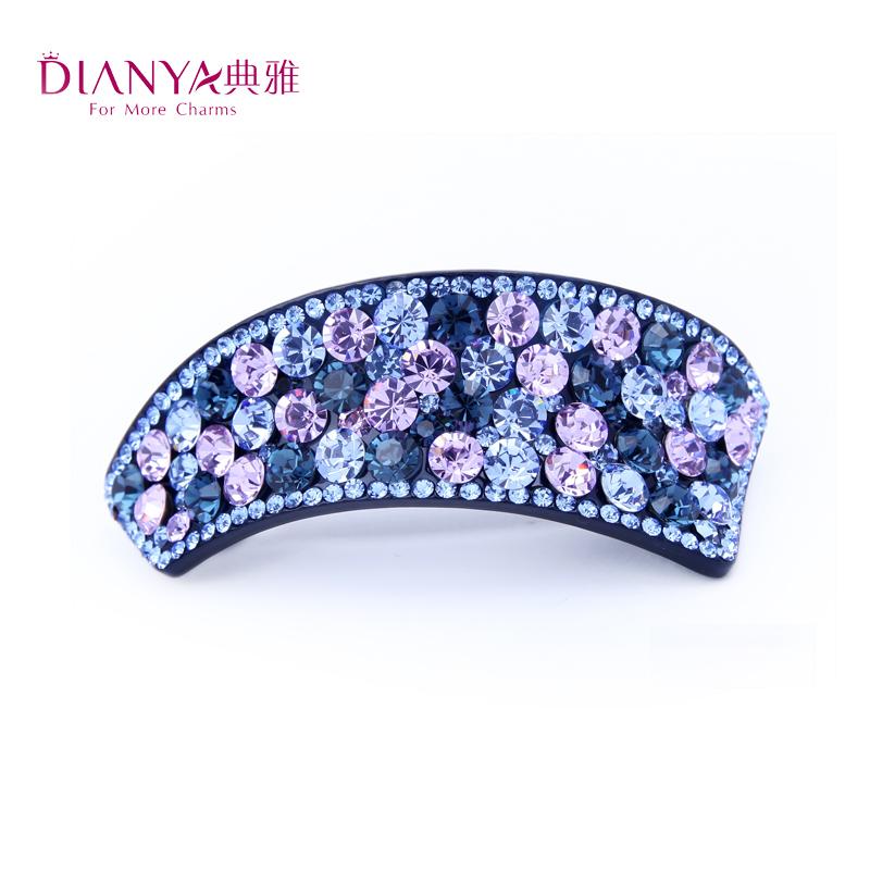 Elegant oktant rhinestone hair accessory crystal clip spring clip folder hair pin hair accessory 02369(China (Mainland))