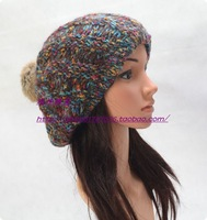 Autumn and winter fashion rabbit fur ball hairline thermal knitted hat sweet female hat