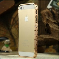 Free Shipping 2014 New Arrival Watch Chain Shape Aluminum Metal Bumper Case Metal Chain Case for iPhone 5 5S