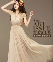 2014 new spring summer Tunic Korean version of sweet  summer dress lace thin chiffon dress
