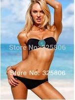 Free Shipping 2014 Fashion Secret Padded Swimsuit Women's Rhinestone Sexy Beach wear Bikini Swimwear 1 Color S/M/L