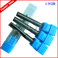5pcs 4x32mm 2 Flutes Straight Cutter / End Millinging Engraving Tools for Woodworking / free shipping
