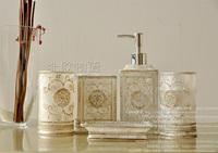 Fashion resin bathroom set of five pieces luxury bathroom accessories bathroom set dental toiletries set