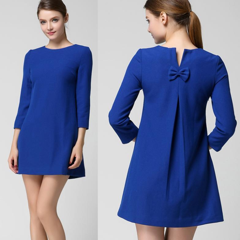 Платье до колена прямое