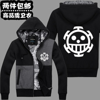 One Piece Trafalgar Law cosplay anime male hoodie jacket coat