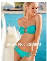 Sexy Bikini Swimwear 2014 New Brand Free Shipping Swimsuit Brand VS Style Women Summer Gift Red Green ! ! 4037