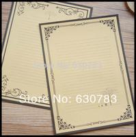 Free Shipping Wholesale 20pcs/lot 17.5*23.5cm European style restoring ancient ways Kraft Writing Paper & Letter Pad / Paper