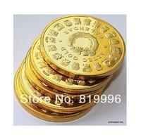 100 PCS 1 OZ MINT MAYAN AZTEC GODS 24k .999 GOLD clad COIN PROPHECY CALENDAR 2012