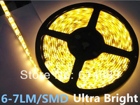 Promotion! Ultra Bright 6-7LM/SMD LED Strip Light 3528 Waterproof Strip Lamp 5Meters 300SMD Warm White 10Meters/lot