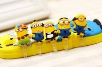 40pcs gadget Despicable me 3D minions anti dust plug for 3.5mm earphone jack plug mobile phone accessories free shipping