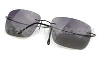 2015 Ultra-light frame vintage fashion rimless Sunglasses polarized titanium sunglasses sun glasses male Women large sunglasses