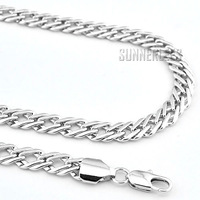 New 7mm Fashion Jewelry Mens Womens Braided Style Chain 18K White Gold Filled Necklace Gold Jewellery Free Shipping C03 WN