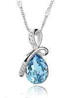 Angel Tears 7 Colors Hot Selling Fashion Austrian Crystal  Necklace 2014 Women Top Quality Crystal Jewelry Free Shipping