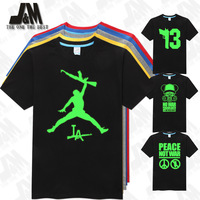 World  peace Anti-war T-shirt  Fashion men casual shirt short sleeve no war no gun glowed tshirt Wacky basketball jersey