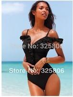 2014 Newest ladies swimsuit The Plunge Push-Up Top Twist Bandeau Swimwear Sexy Women Bikini 2 Colors S/M/L