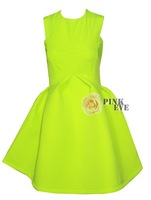 Free shoping NEW ARRIVALS  Fashion fluorescent color high waist ball gown dress. Party Dress  TB 6056