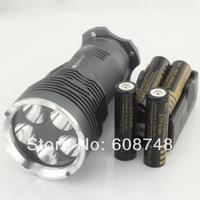 7000Lm 6x CREE XM-L XML T6 LED Flashlight Torch Light 4x 18650 4000MAH Battery Charger