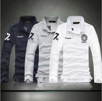 2014 New Fashion Style Men Clothing Men's Long-Sleeve Tees Mens Plus Size 5XL Embroidery Logo Refreshing T Shirts
